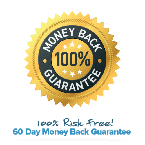 60-day 100% money back guarantee